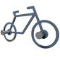 Wieszak ścienny bike calleadesign czarny 13-008-5