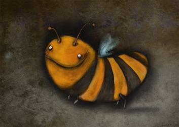 Pszczółka - plakat wymiar do wyboru: 59,4x42 cm