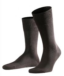 Eleganckie ciemnobrązowe bawełniane skarpety falke tiago rozmiar 43-44