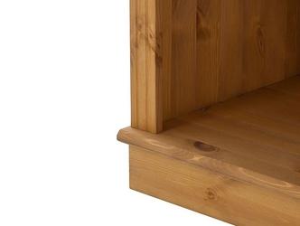 Potrójny regał sosnowy z półkami anita w kolorze naturalnym  222x34x219 cm