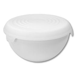 Miska plastikowa z pokrywką practic bąble biała 6 l