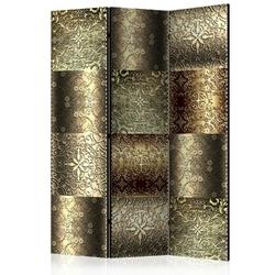 Parawan 3-częściowy - metalowe płytki room dividers