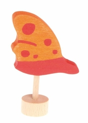 Drewniana figurka, Pomarańczowy Motyl, Grimms