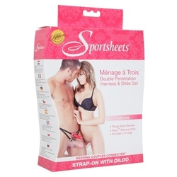 Sexshop - uprząż do podwójnej penetracji sportsheets - menage a trois for two - online
