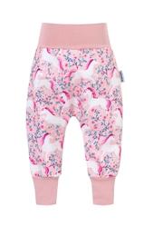 spodnie softshell jednorożce w kwiatach