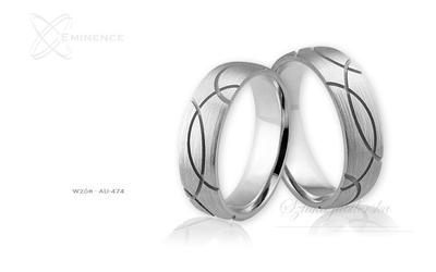 Obrączki ślubne - wzór au-474
