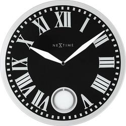 Zegar ścienny z wahadłem romana black