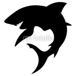 Obraz na płótnie canvas sylwetka rekina