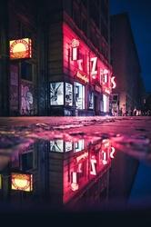 Neon - plakat premium wymiar do wyboru: 21x29,7 cm