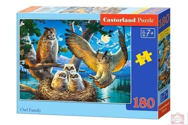 Castor puzzle 180 owl family 8437