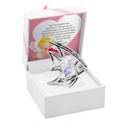 Figurka rybka swarovski z kryształami dedykacja