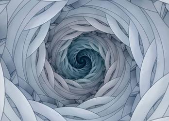 Spiralny fractal ii - fototapeta