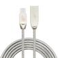 Tb kabel usb - usb c 1 m metalowy srebrny