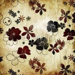 Board z aluminiowym obramowaniem starodawny stary papier z kwiatami