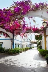 Fototapeta gran canaria puerto de mogan białe domy