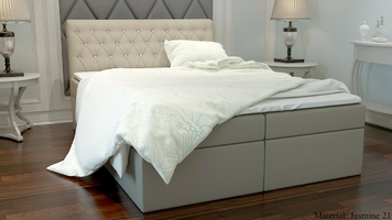 Łóżko kontynentalne kinga z pojemnikami