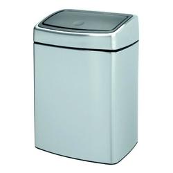 Brabantia - kosz touch bin® prostokątny - wiaderko plastikowe – 10l - stal matowa fpp - stal matowa fpp