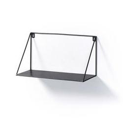 Metalowa półka falta czarna