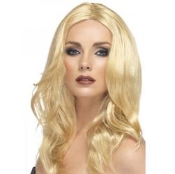 Peruka blond z przedziałkiem