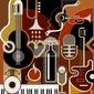 Plakat abstrakcyjne tło muzyczne