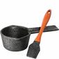 Rondelek żeliwny do marynaty, silikonowy pędzelek BBQ Kuchenprofi KU-0403051028