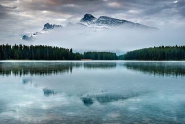 Fototapeta na ścianę górskie mroźne jezioro fp 5459
