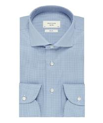 Elegancka koszula męska profuomo sky blue w pepitkę 42