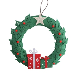 Wianek bożonarodzeniowy  stroik świąteczny na stół i drzwi altom design filcowy 32 cm