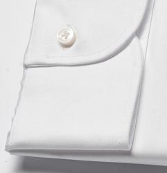 Elegancka biała koszula męska taliowana slim fit, mankiety na guziki 39