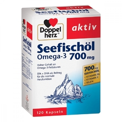Doppelherz omega 3 700mg+wit.b1+selen kapsułki