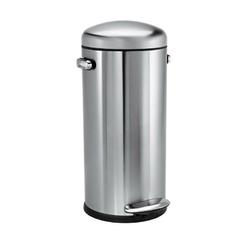Simplehuman - kosz na śmieci pedałowy retro 30l - stal fpp - stalowy