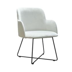 Nowoczesne krzesło tapicerowane adam x na metalowych nogach