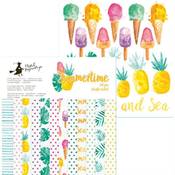 Ozdobny papier Summertime - zestaw 15x15 cm
