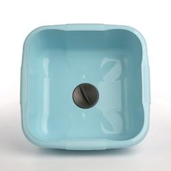 Miska łazienkowa  do prania plastikowa kwadratowa z korkiem tontarelli baci and tappi 9,6 l