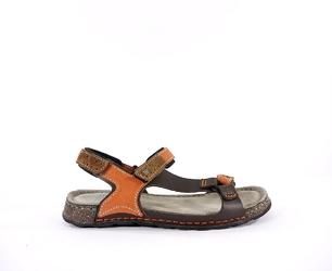 Sandały męskie nik 0163 j.brąz