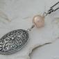 Apulia - srebrny wisiorek z perłą