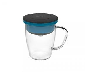 Kubek z zaparzaczem do kawy 350 ml pao duo dripper czarno-niebieski