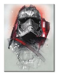 Star wars: the last jedi captain phasma brushstroke - obraz na płótnie