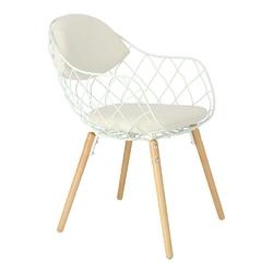 Krzesło jahi białe białenaturalne - biały