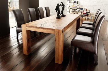 Drewniany dębowy stół leeds  180 x 90 cm, dąb lity bassano