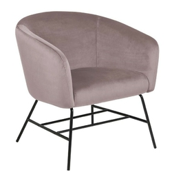 Krzesło do salonu infiniti różowy welur