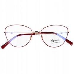 Okulary kocie oczy z filtrem blue light do komputera zerówki 2542-4