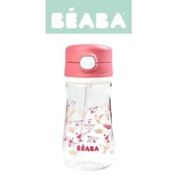 Tritanowa butelka ze słomką beaba 350 ml - dark pink