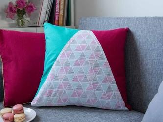 Poszewka na poduszkę bawełniana dekoracyjna altom design trójkąty dek. i 40 x 40 cm