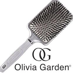 Olivia garden ceramic ion xl boar l srebrna szczotka z włosiem dzika