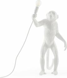 Lampa Monkey biała stołowa stojąca