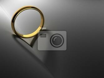 Obraz pierścionek z cienia serca