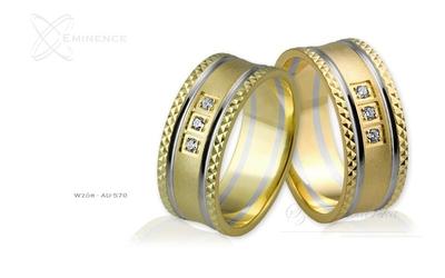 Obrączki ślubne - wzór au-570