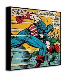 Marvel kapitan ameryka empty handed - obraz na płótnie
