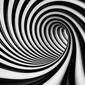 Czarno-biały tunel - fototapeta